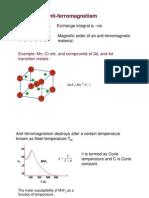 Anti Ferromagnetic Materials