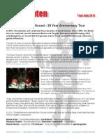 30 years of Dissidenten (group) - on tour in 2011 with Manickam Yogeswaran (vocal/Kanjira)