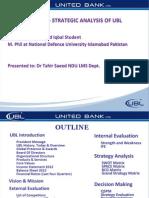 Strategic Analysis of United Bank Limited
