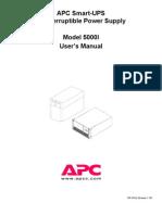 Smart UPS 5000 User Manual