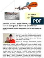 Decisão judicial pode tornar paraibano de 14 anos o mais jovem do Brasil no '3º Grau'