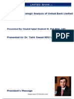 Strategic Analysis of United Bank Limited. MS Word