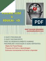 AULA PSICANALISE E EDUCAÇÃO
