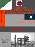 Criterios Estructurales Para Residentes de Obra Dr. Genner Villareal Castro