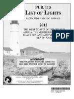 Pub113bk List of Lights(Africa)