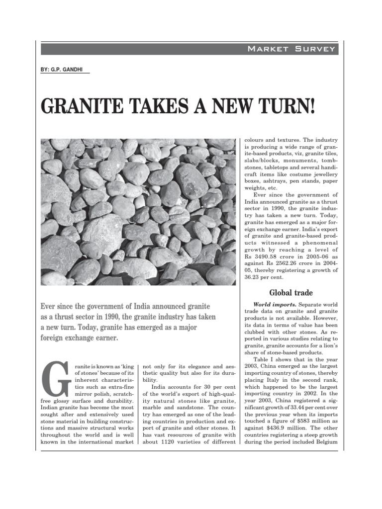 Granite | Granite | Exports