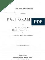 Pali Grammar - Tilbe