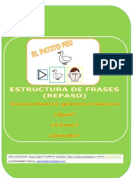 Fichas Estructura Frases Patito