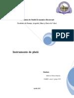 Proiect Gestiune Bancara - Instrumente de Plata -1