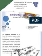 Ciudad Universitaria. RESIDENCIAS