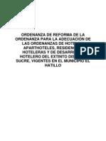 Reforma de La Ordenanza de Hoteles.