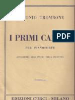 [Antonio Trombone]I Primi Canoni Per Pianoforte