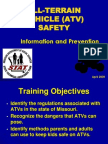 All Terrain Vehicle Safety1dsfsd
