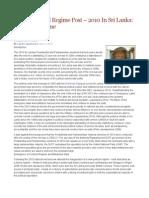 A New Political Regime Post – 2010