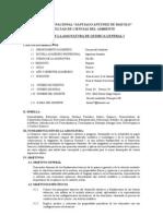 Silabo de Quimica General i -2011-II Ing. Sanitaria[1]