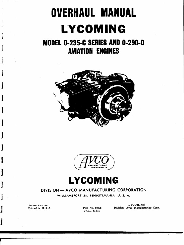 Lycoming O 235 290 Overhaul