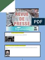 Revue de Presse Litteraire Ipagination Mai 2013