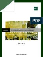 Programa Modificado Derecho Romano 2012-2013