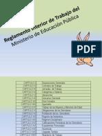 Reglamento Interior de Trabajo Del MEP