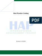 Best Practice Catalogue for Hydropower