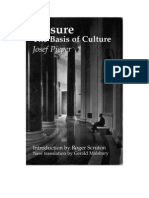 Josef Pieper - Leisure, The Basis of Culture