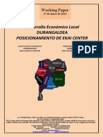 Desarrollo Económico Local. DURANGALDEA. POSICIONAMIENTO DE EKAI CENTER (Es) Local Economic Development. DURANGALDEA. EKAI CENTER'S POSITION (Es) Tokiko Ekonomi Garapena. DURANGALDEA. EKAI CENTER-EN KOKAPENA (Es)