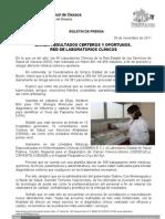 20/11/11 Germán Tenorio Vasconcelos BRINDA RESULTADOS CERTEROS OPORTUNOS, RED DE LABORATORIOS CLÍNICOS