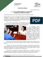 24/11/11 Germán Tenorio Vasconcelos BRINDA SSO ATENCIÓN MÉDICA Y PSICOLÓGICA A MUJERES VÍCTIMAS DE VIOLENCIA