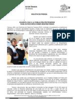 29/11/11 Germán Tenorio Vasconcelos Exhorta SSO a la población protegerse para evitar infecciones respiratorias