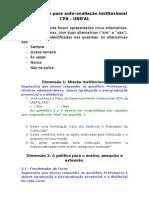 Instrumento CPA para revisão - Todas as Dimensões do SINAES.doc