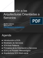 Introducción a las Arquitecturas Orientadas a Servicios