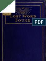 Jirach Dewey Buch - The Lost Word Found