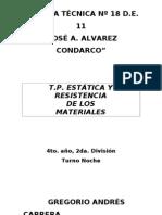 Tp Estatica y Resistencia de Materiales - Caratula Tp 1