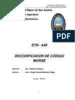 DECODIFICADOR DE CÓDIGO MORSE ETN 640
