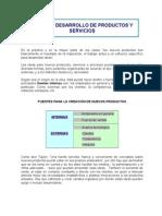 DISEÑO Y DESARROLLO DE PRODUCTOS Y SERVICIOS-