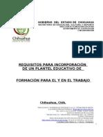 Requisitos de Formacion Para El Trabajo (Int)