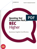 Speaking Test Preparation Pack for BEC Higher