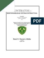 De Los Contratos y de La Responsabilidad Extracontractual - René David Navarro Albiña