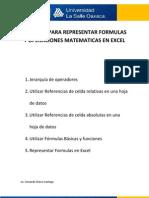 Tutorial Para Representar Formulas y Operaciones Matematicas en Excel