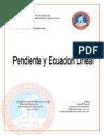 Pendiente y Ecuacion Lineal