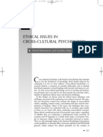 Ethical Issues in Cross Cultural Psychology