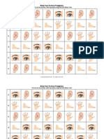 Body Part Pattern Templates