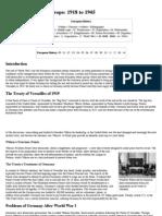 AP European HIstory Study Guide 1918-1945
