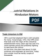 Industrial relationship in hindustan motors