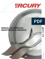 Manual de Proprietario Do Motor de Popa Mercury 2.5-3.3HP b