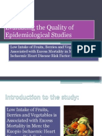 Evaluating the Quality of Epidemiological Studies