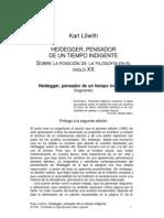 Lowith, Karl - Heidegger, Pensador de Un Tiempo Indigente (Pasaje)