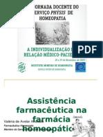 ASSISTÊNCIA FARMACEUTICA NA HOMEOPATIA