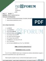 Direito Administrativo - Aula 13 - Resumo