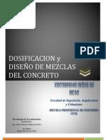 Dosificacion Diseo de Mezclas Del Concreto